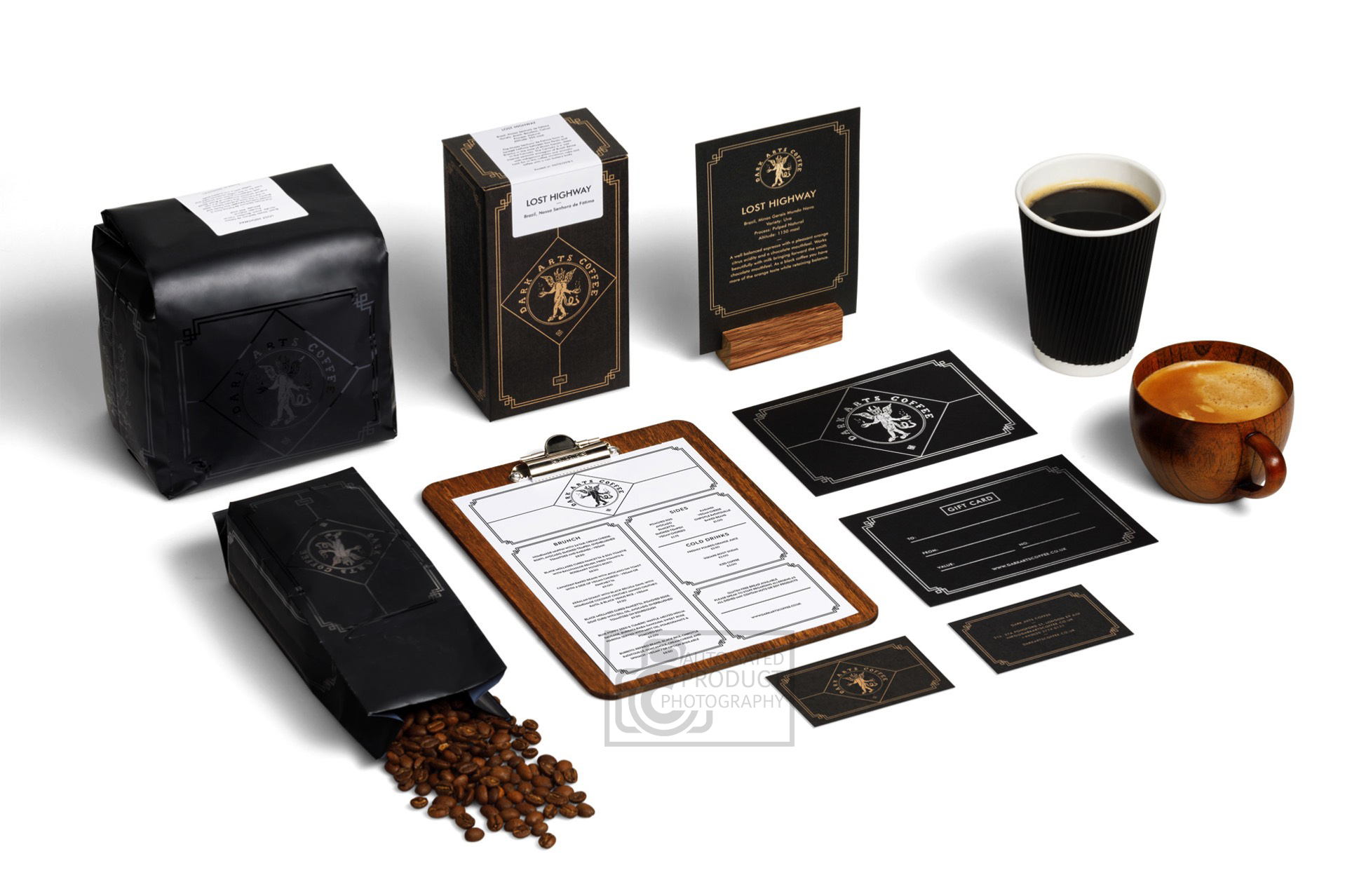 Dark Arts Coffee Accessories Product Photography
